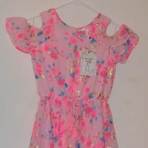 beautiful pink floral jumpsuit NWT